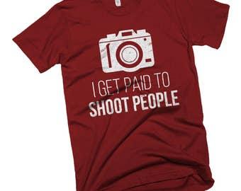Photographer Shirt, Photography Shirt, I Shoot People, Photographer Gifts, Photography Gifts, Camera Shirt, Photography Studio