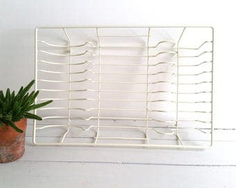 SALE Retro white dish drainer