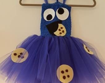 Cookie Monster tutu dress uk size 1-2 years