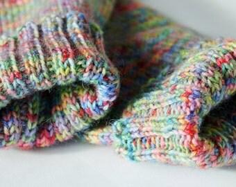 Hand Knitted Ladies Socks UK Size 5-6, Casual Socks, Bed Socks, Boot Socks