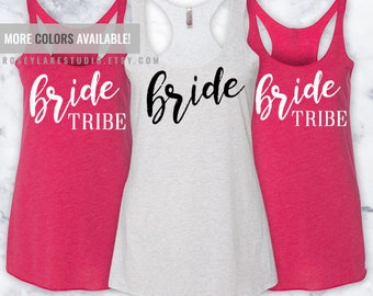 Bride Tribe Triblend Racerback Tank,Tank,Tanks,Bride,Bridal,Bridal Party,Bachelorette,Party,Parties,Wedding,Weddings,Tribe,Bride Tribe,Gift