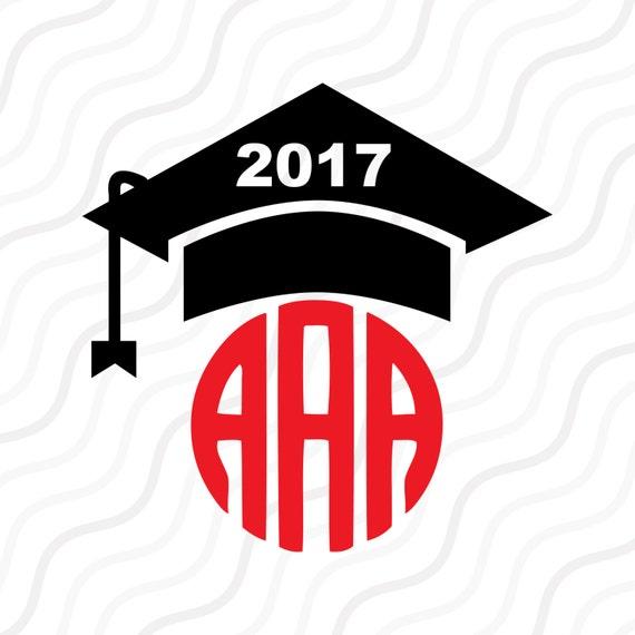 Download Graduation Cap SVG, Graduation 2017 Monogram SVG Cut table ...