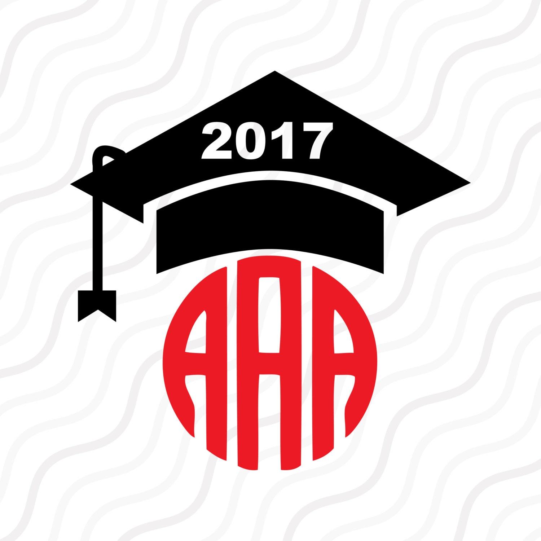 Download Graduation Cap SVG Graduation 2017 Monogram SVG Cut table