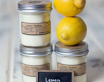 Soy Candle -Lemon Verbena - Year Round Fragrance