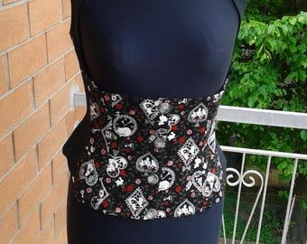 corset/underbust waistcoat Alice in wonderland (handmade)