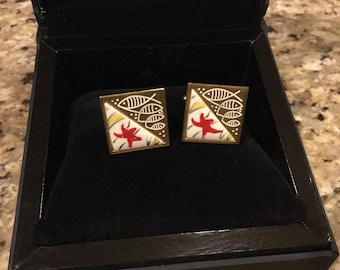 Vintage Ichthus Cuff Links
