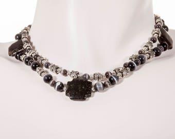 "Double Strand LAINE HOADLEY Angelstone 16"" Necklace"