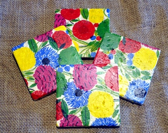 Wild Flower Natural Stone Coaster