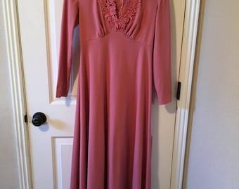 Beautiful boho 70's maxi dress