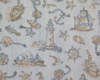 Nautical Patterned Fabric