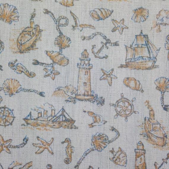 Nautical Patterned Fabric