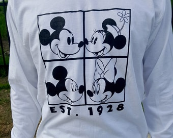 Mickey and Minnie Through the Years Long Sleeve T-shirt