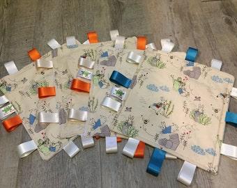 Peter Rabbit, Taggy Blanket, Sensory comforter, Comfort blanket, Snuggle blanket, new baby gift, baby shower