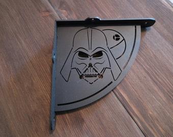 2x Darth Vader shelf bracket (2 brackets for complete shelf mounting, without shelf)