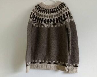 Vintage wool fair isle sweater, small-medium