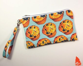 Blueberry Muffin Pattern Clutch