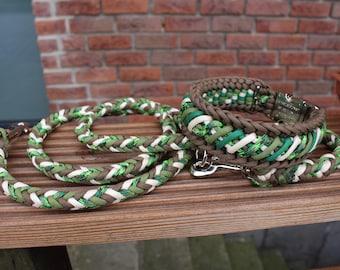 """Arrows"" set: Leash & collar, individually customised"