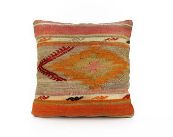 Kilim pillow, Kilim pillow cover, Boho pillow, Home living, Wintage pillow, Home design, Decorative pillow, Turkish pillow, Kilim cushion