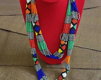 AFRICAIN Long Bead Necklace