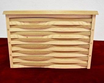 jewelry chest, wooden jewelry chest, wooden jewelry box, sculptural jewelry box, luxurious jewelry box