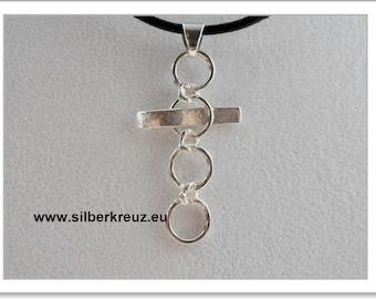 """Transparent"" cross Silver 925 (AKR-1133)"