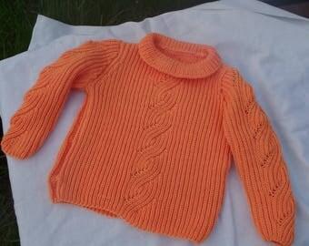 Soft Orange Merino sweater