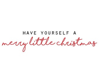 Merry Little Christmas- Greeting Card