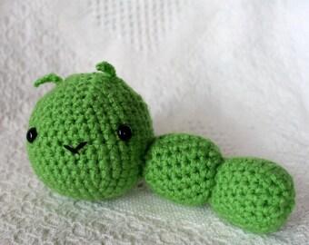 Cute Mini Crocheted Amigurmi Caterpillar Plush