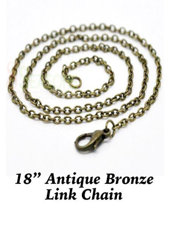 """Link Chain,  18"""" bronze finish **FREE SHIPPING**"""