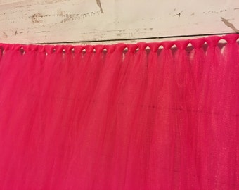Fuchsia Table Skirt- Pink Tulle Table Skirt- Table tutu- Tulle Table tutu- Table Skirt- Will Custom Make Colors and Sizes