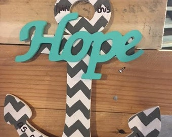 """Wooden """"Hope"""" Anchor"""