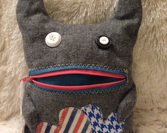 Zipper mouth monster plush pocket creature toy zippers and pockets pouch monster birthday , get well gift presents for children or adults