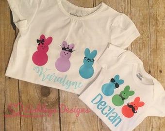 Easter shirt . Easter onesie . Easter . Peep . Bunny . Custom .