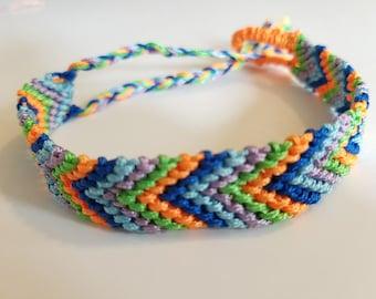 Fair Trade Nicaraguan Artisan Made Woven Herringbone Friendship Bracelet