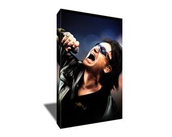 FREE SHIPPING U2 Bono Portrait Canvas Art