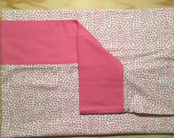 Pink Flannel Pillowcase
