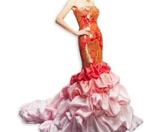 Utikake Kimono Dress Wedding Dress, Bridal Dress (15-02003)
