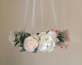 Floral Mobile - Baby Mobile - Flower Mobile - Baby Girl Mobile - Nursery Decor - Wedding Decor