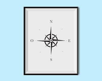 Displays compass (A5 - A4 - A3)