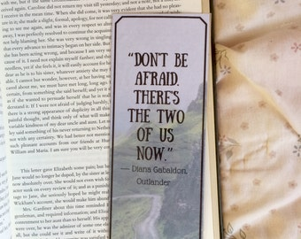 Outlander Diana Gabaldon Quote Bookmark #2