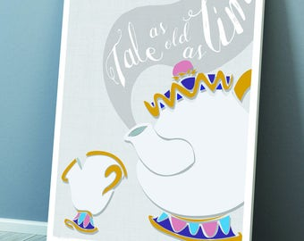 Beauty and the Beasts Mrs Potts and Chip 'Tale as Old As Time' Print