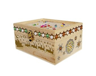 Hand Decorated Wooden Box - CHRISTMAS BLESSINGS