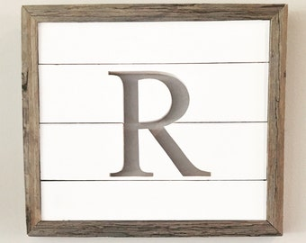 Monogrammed Cutout Wall Sign