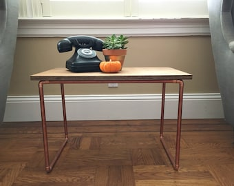 Copper and Pine End Table