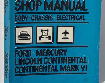 Ford - Mercury 1980 Body/Chassis/Electrical Shop Manual Lincoln Continental