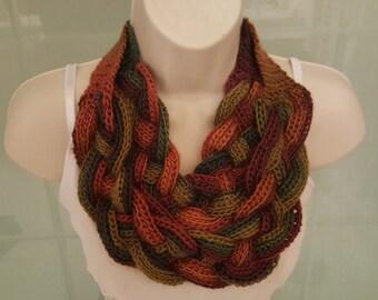 Multicolor Braided scarf