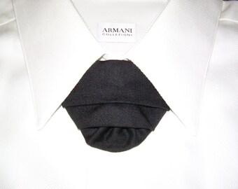Black tie ASCOT Bolo Cravat Men's Neck Tie Solid Black