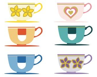 Disneyland Inspired Teacups Poster