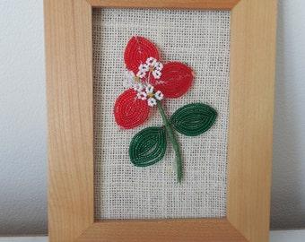 French Beaded Flower Frame