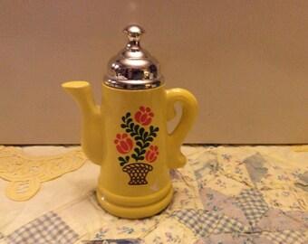 Vintage gold and floral pattern, Avon bottle, koffee klatch, collectible Avon